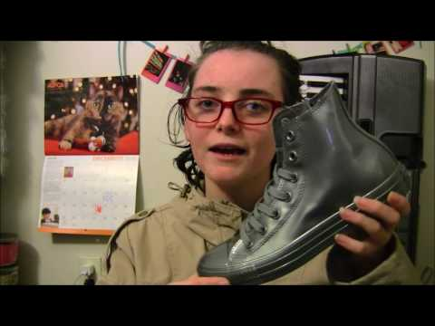 f3c7bb16690a53 Converse Metallic Rubber High top Glacier unboxing and Review - YouTube