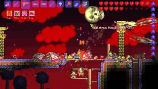 Terraria Epic - All 4 bosses, Blood Moon, Battle Potion