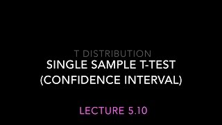 Lecture 5.10: t-test -  Independent sample t test (statistics for Psychology)