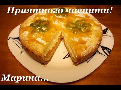 Пирог творожный в мультиварке с вареньем