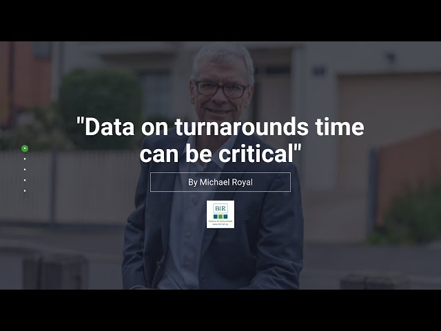 Data on turnarounds time can be critical | BIR Solutions