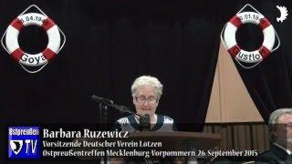 Barbara Ruzewicz (Lötzen) überbringt Grüße aus Südostpreußen/Wiedersehen nach 44 Jahren