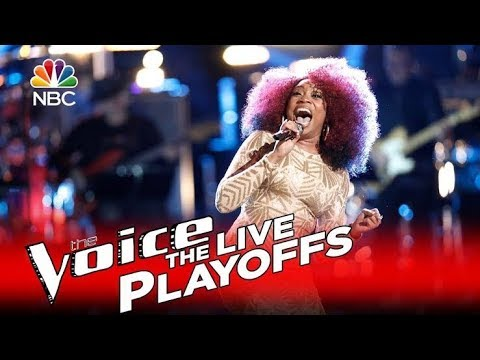 The Voice 2016 Sa'Rayah - Live Playoffs - 'I'd Rather Go Blind'