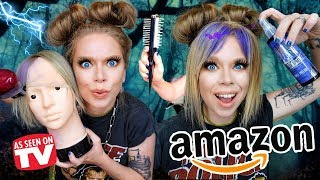 7 Weird HAIR DYING Gadgets from Amazon Tested!