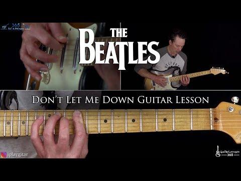 Don't Let Me Down Guitar Lesson - The Beatles