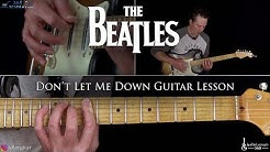 The Beatles - Don't Let Me Down Guitar Lesson
