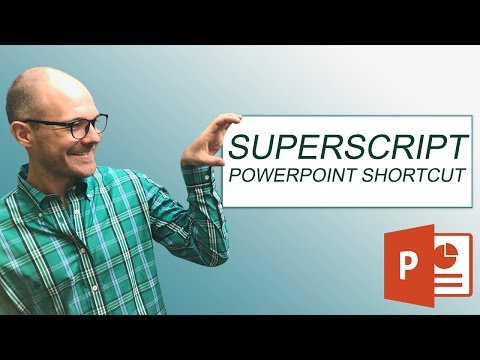 How To Superscript (Subscript) In PowerPoint W/ Keyboard Shortcuts