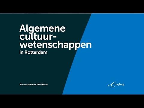 Algemene cultuurwetenschappen Rotterdam - Erasmus Universiteit Rotterdam