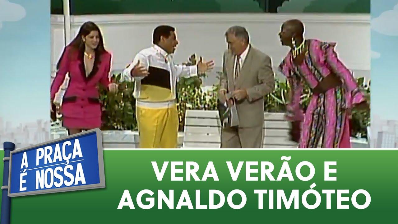 Vera Verão quer ser musa de Agnaldo Timóteo   A Praça é Nossa (06/08/20)