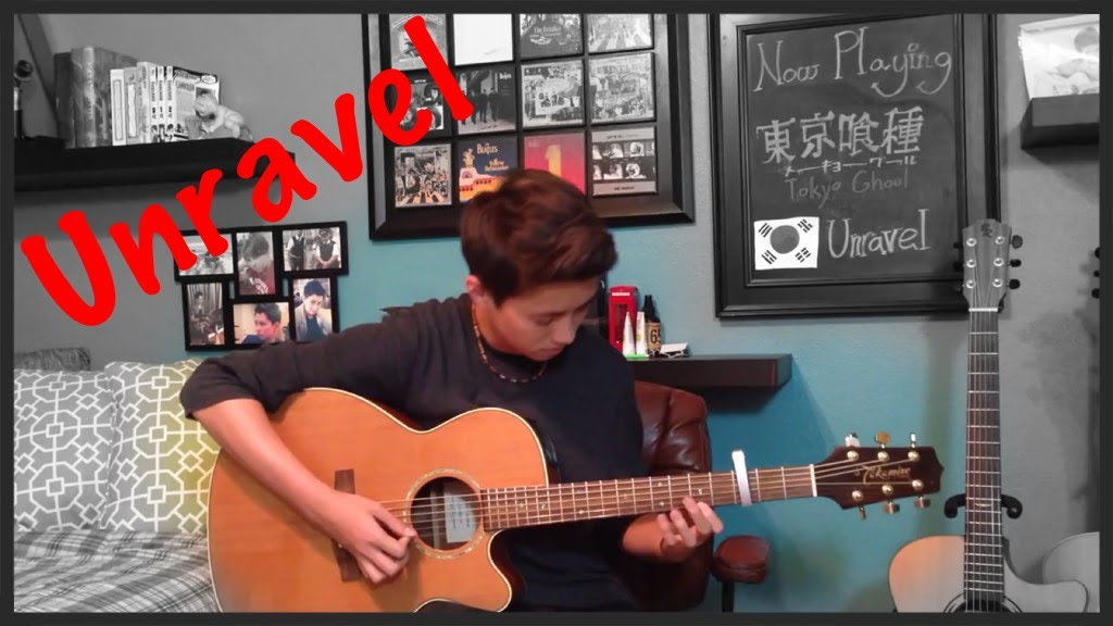 Tokyo Ghoul Opening Theme Song Unravel Fingerstyle Guitar Cover