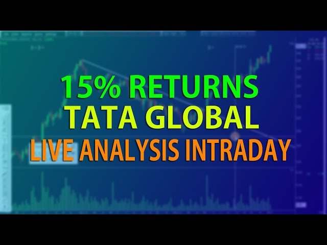 15% RETURNS in a MONTH| LIVE BREAKOUT OF TATA GLOBAL| INTRADAY ANALYSIS