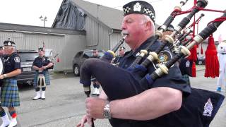 Delta Police Pipe Band Easter Parade Warmup, Ladner BC, April 20 2014