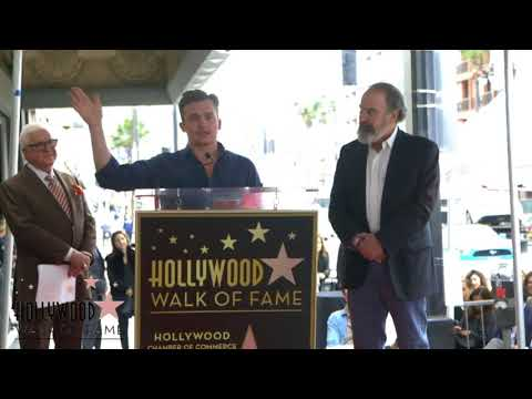 Rupert Friend speaking at Mandy Patinkin's Walk of Fame Ceremony