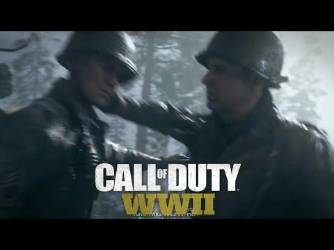 CALL OF DUTY: WWII LT. Turner vs Sgt. Pierson FIGHT Scene