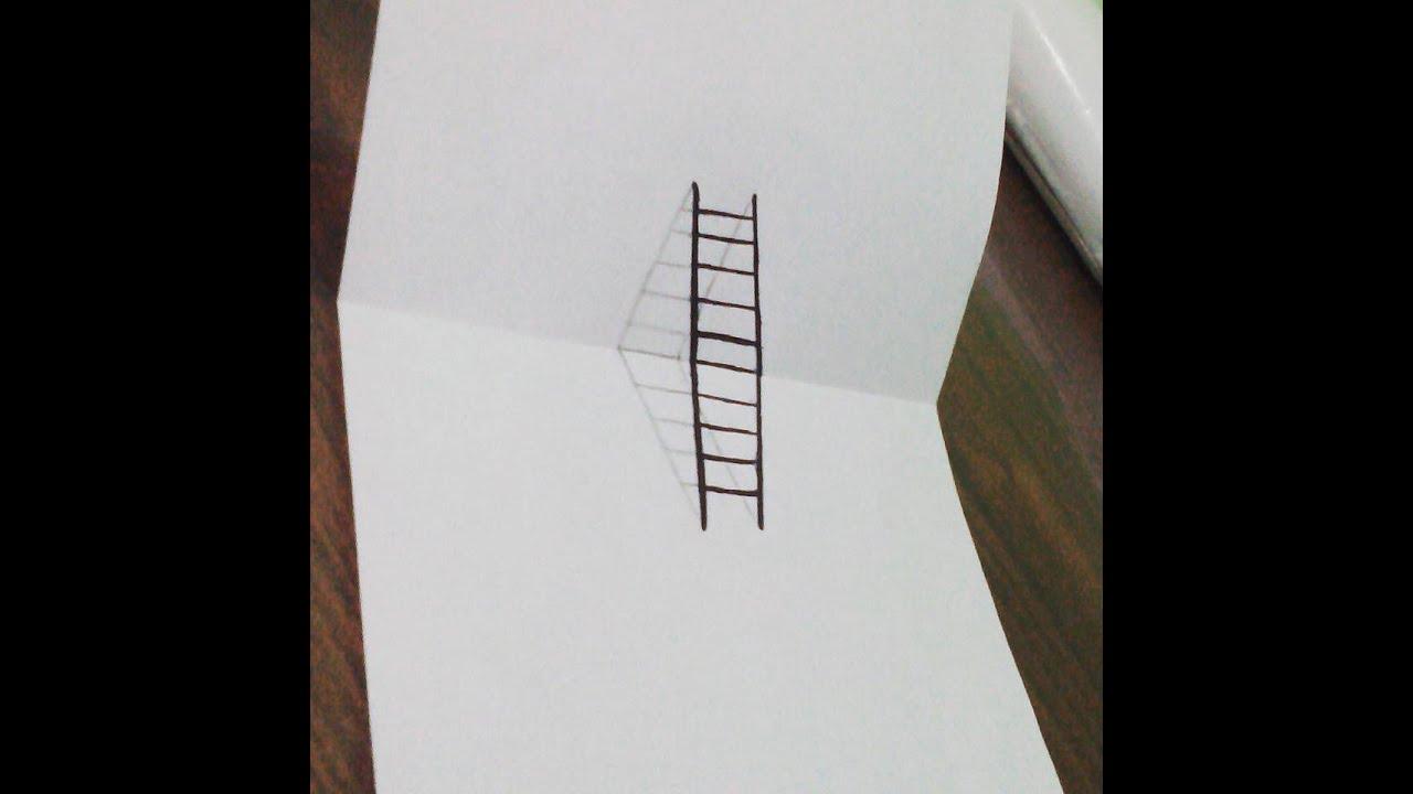 رسم سريع لسلم ثلاثي الأبعاد 3d إسلام أسامه Diy 3d Ladder
