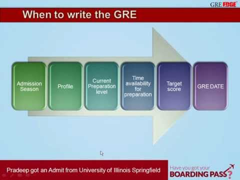 GREedge - When should I write the GRE - 27 July 2013