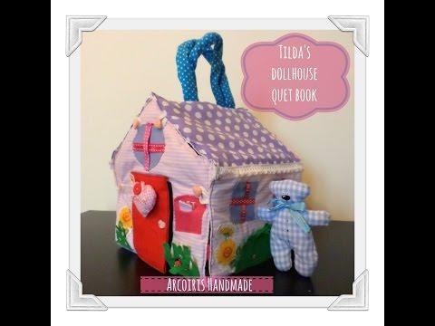 Tilda's dollhouse QUIET BOOK | fabric dollhouse | girl 4-5 years