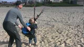 Paramotor Training 8 Year Old!! Little Troy Schanze Learns Powered Paragliding From His Dad!!