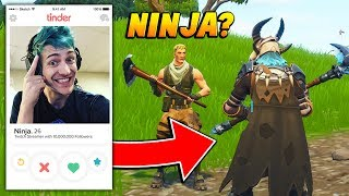I pretended to be NINJA on TINDER to find a FORTNITE DUO PARTNER! (Fortnite Battle Royale)