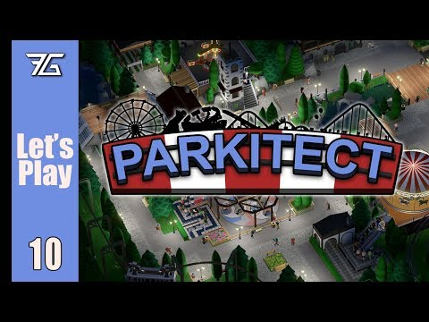 Parkitect : Ep 10 Cloudy Coaster