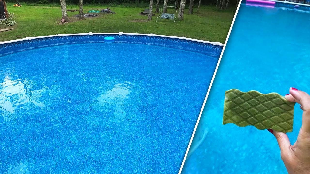 How This Grandma Uses a Magic Eraser to Clean Her Ohio Pool