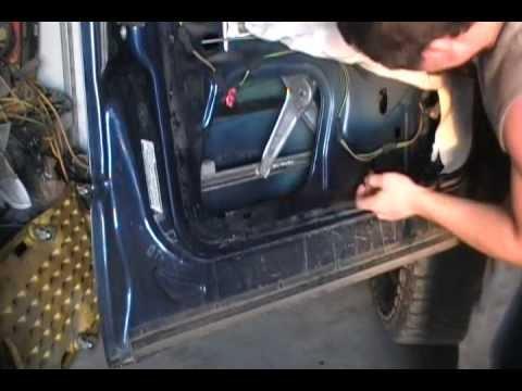 dodge window regulator repair - YouTube