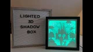 Hwo to make Lighted 3D shadow box with card stock and LED light tutorial video
