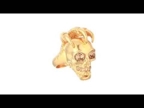 Alexander McQueen Large Claw Skull Ring  SKU:8411887 Mp3