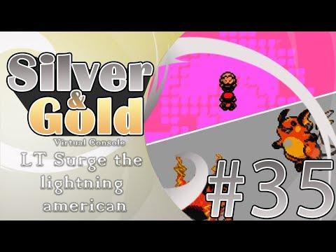 ELECTRIC SHOWDOWN IN VERMILION - LT SURGE - Pokemon Silver VC lets play  35