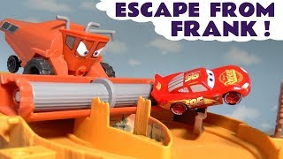 Download Cars Lightning McQueen in Escape From Frank Race with Superhero Cars and funny Funlings TT4U Mp3 and Videos