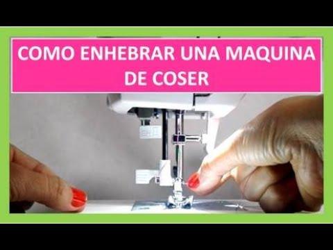 Como poner el hilo en una máquina de coser Singer