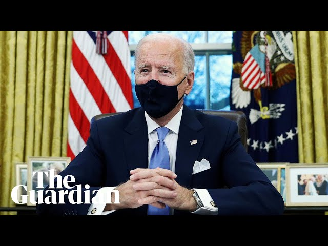 Joe Biden marks start of presidency with flurry of executive orders