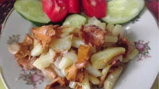 Жареная картошка с грибами Лисички.