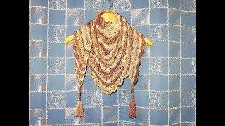 ВЯЖЕМ БАКТУС\ Шаль КРЮЧКОМ (1 часть). Вязание для начинающих. KNIT bactus\ shawl crochet