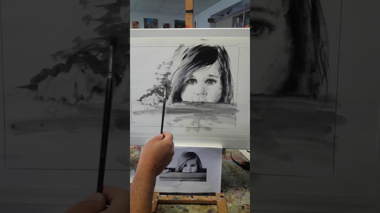 Пишем портрет ребенка девочки маслом.How to Draw a Girl .видео Урок живописи онлайн Макс Скоблинский