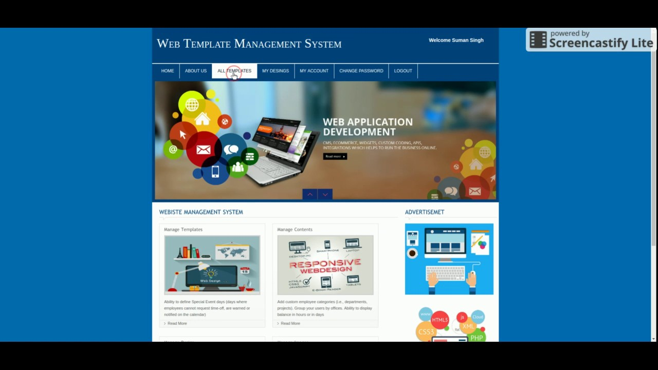 Web Template Management System