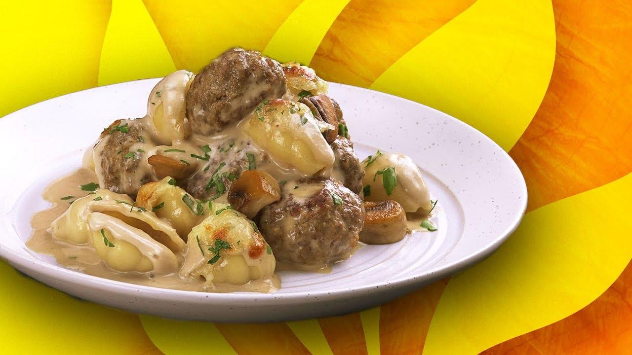 Паста С Фрикадельками В Грибном Соусе: Простейший Рецепт Роскошного Ужина
