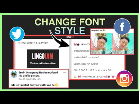 HOW TO CHANGE FONT STYLE IN INSTAGRAM, FACEBOOK AND TWITTER (easy) ANDROID & IOS