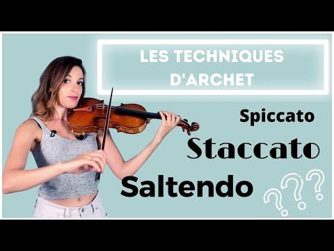 Cours de violon : Les principales techniques d'archet