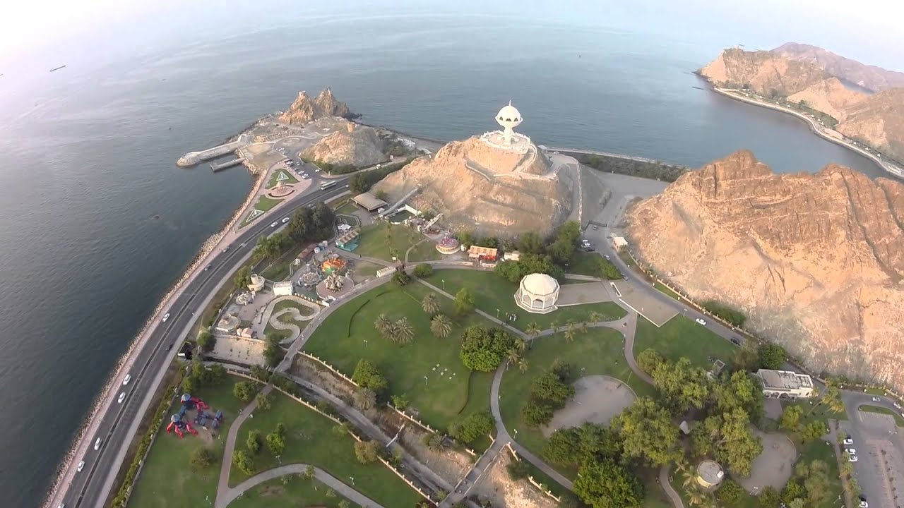 Quad Hd Wallpaper مسقط من السماء Muscat Sky View Youtube