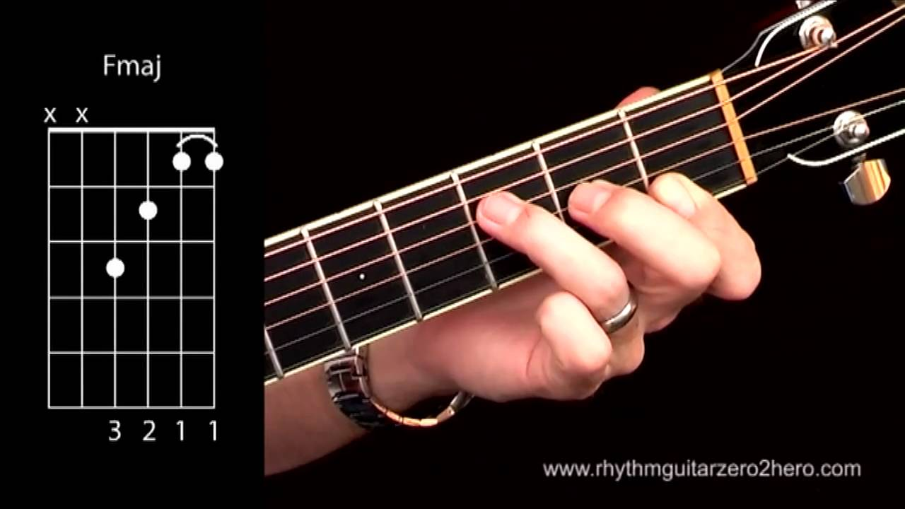 Acoustic guitar chords learn to play f major youtube hexwebz Gallery