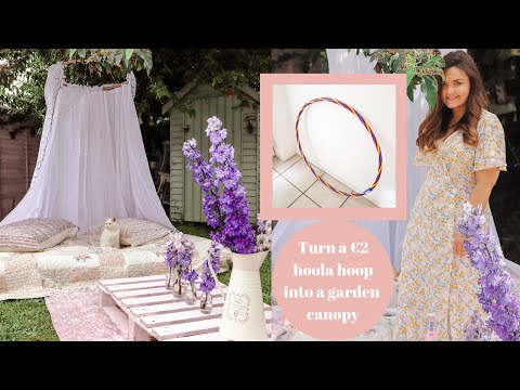 How to make a DIY garden canopy from a €2 Hoola hoop