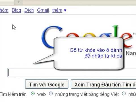 Huong dan su dung google de tim kiem