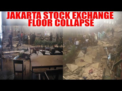 Jakarta : Indonesian Stock Exchange's floor collapse, many feared dead | Oneindia News