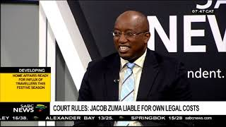 Court rules: Jacob Zuma liable for own legal costs