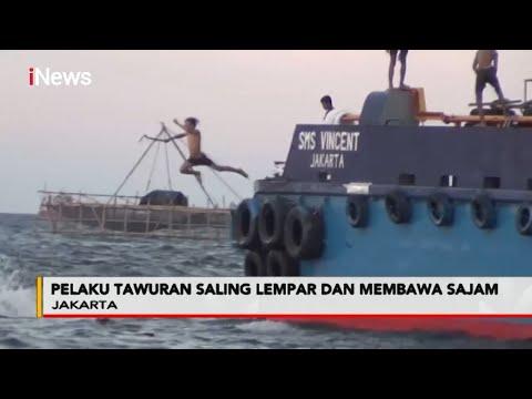 Dua Kelompok Remaja Tawuran Di Laut Cilincing, Jakarta Utara - Police Line 08/09