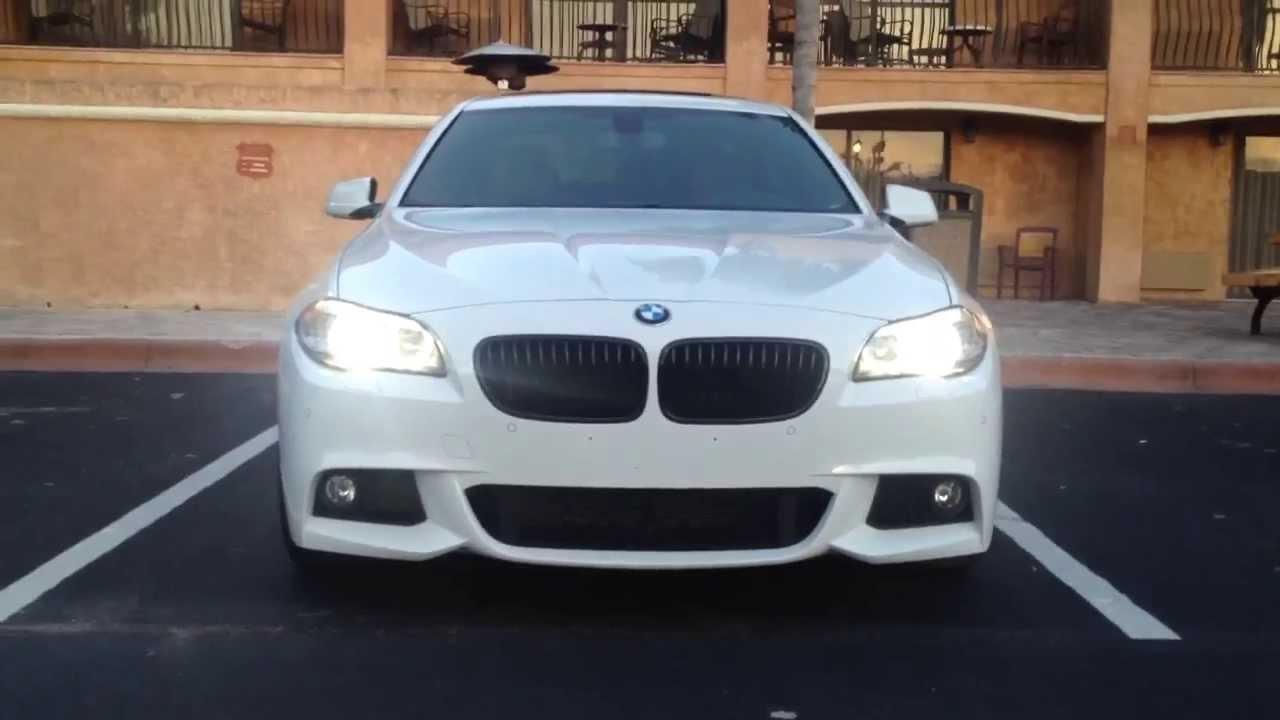 BMW 535I M Sport >> 2013 BMW 535i M Sport Head/Tail Lights(HD) - YouTube