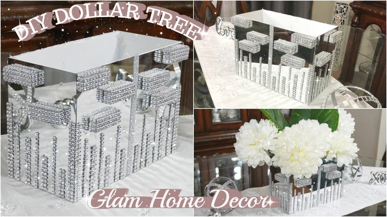 Dollar Tree Diy Glam Mirror Decor Bling Centerpiece