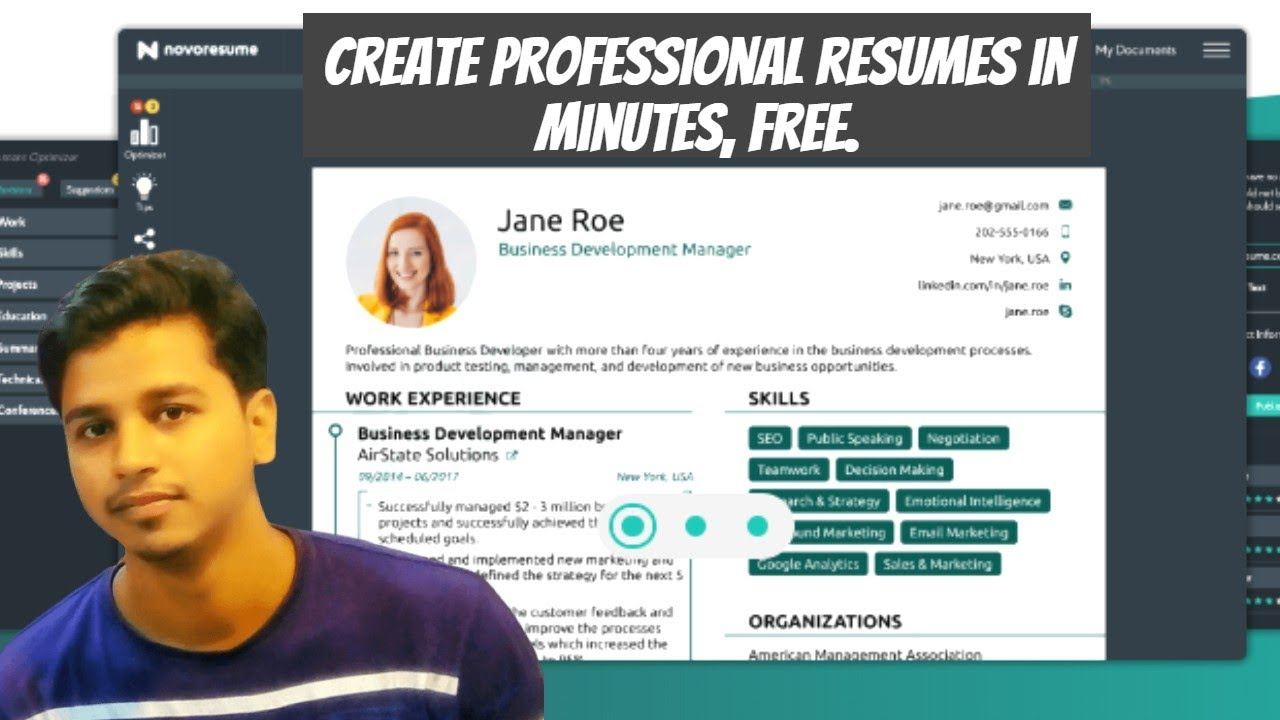 How To Create Professional Resume Online In A Minute For Free