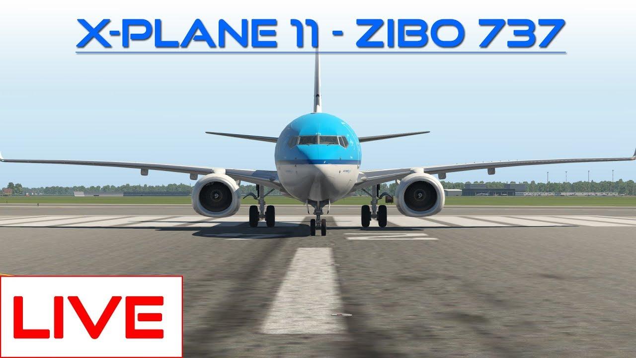 X-Plane 11) Two KLM Flights - Zibo 737 - Most Popular Videos